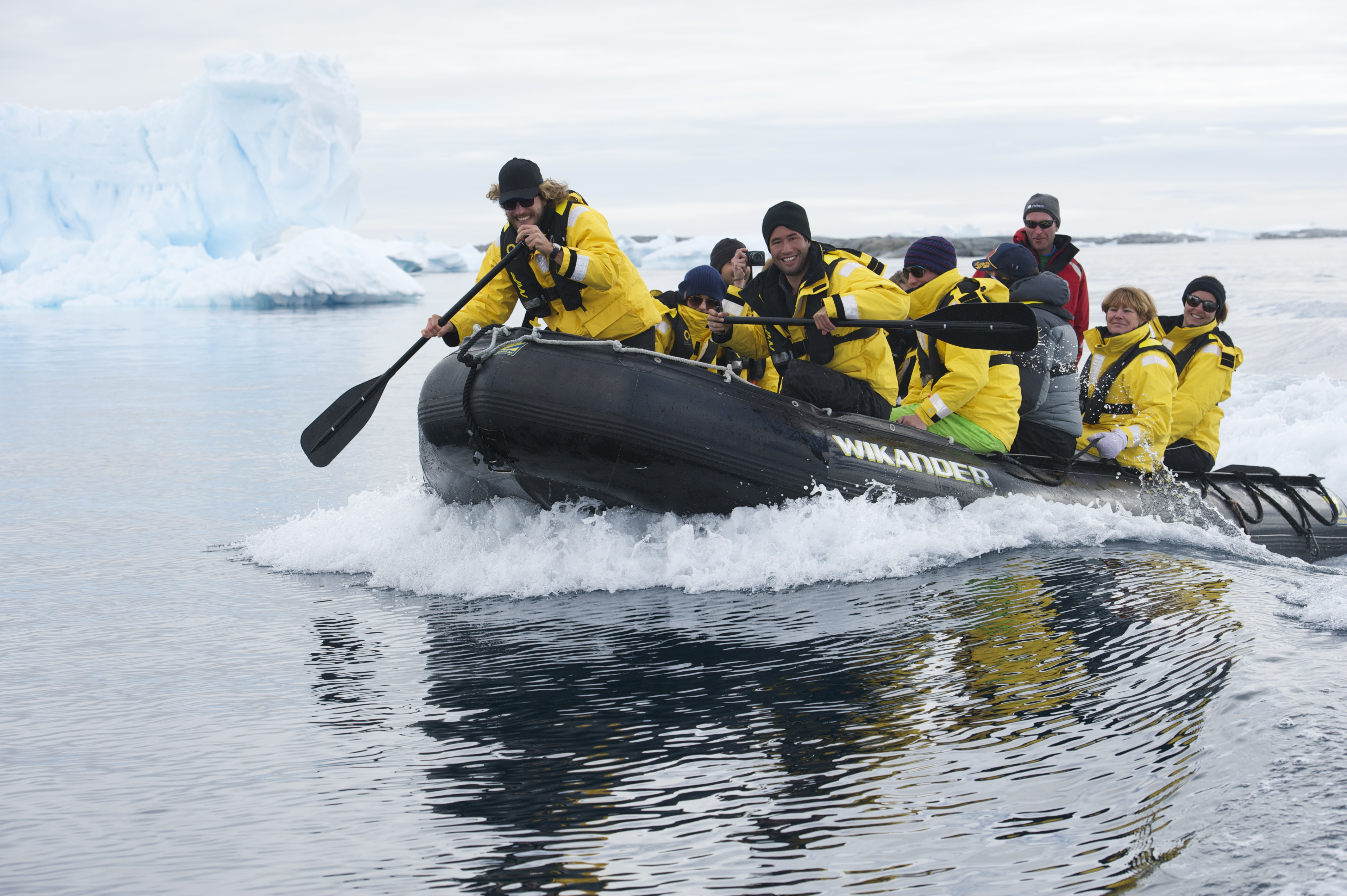 Here is an example of leaving a wake. This is also a preview of my next post. Antarctica!