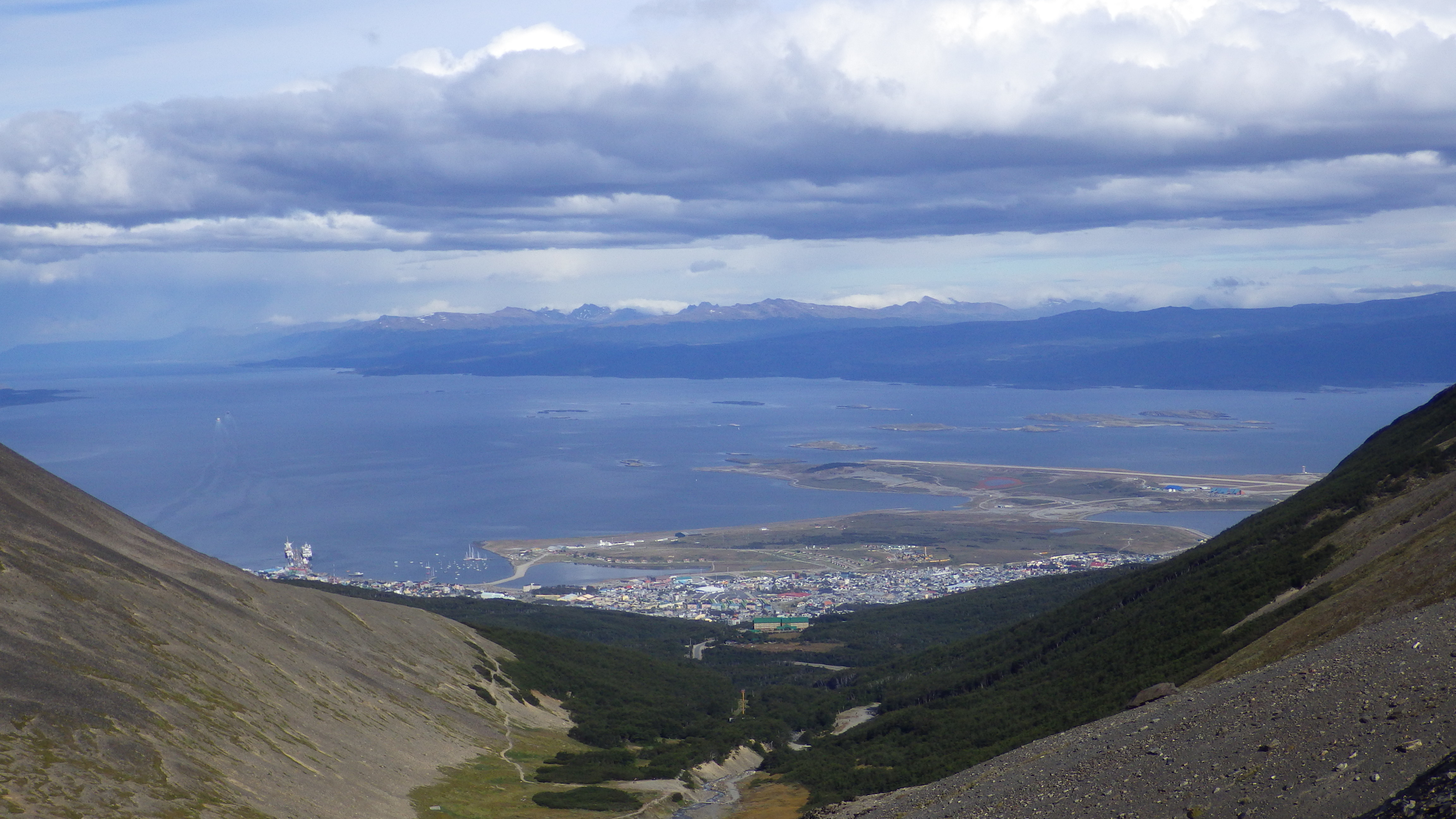 View of Ushuaia from above